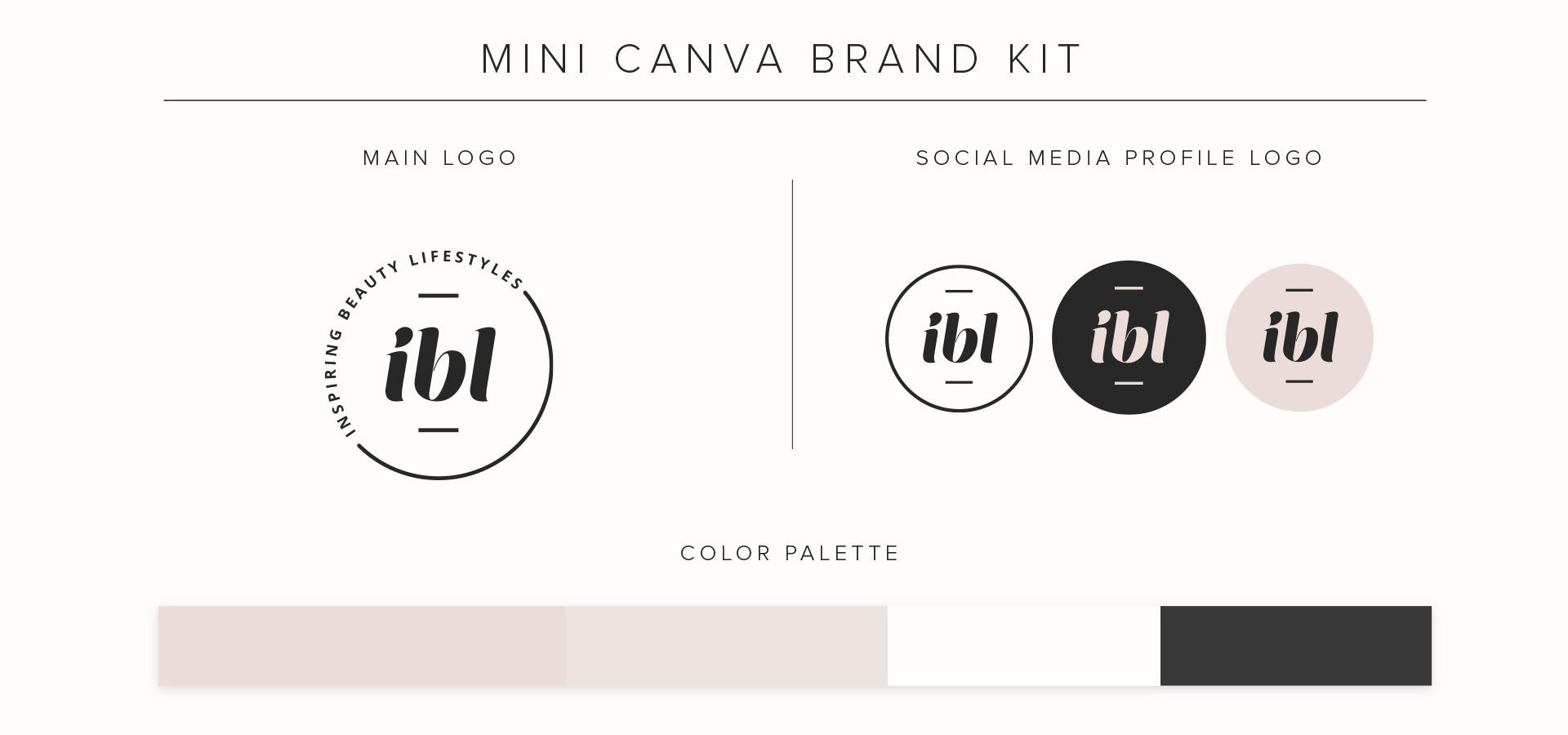 Canva social media brand kit