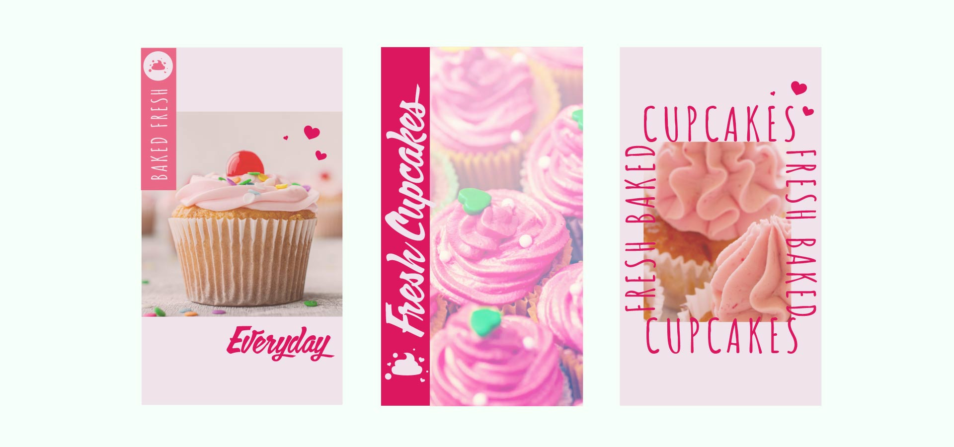 cupcake bakery instagram branding