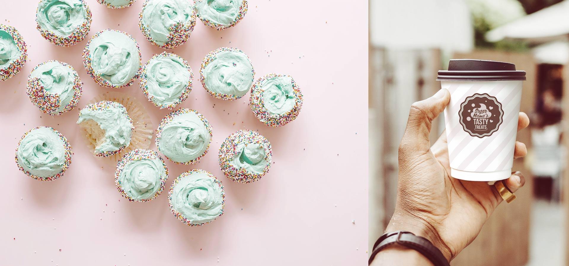 Cupcake bakery packaging