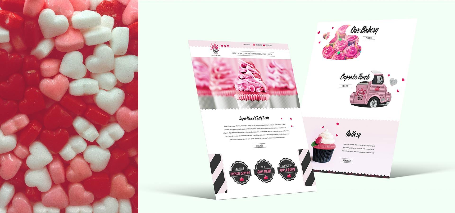cupcake bakery website design