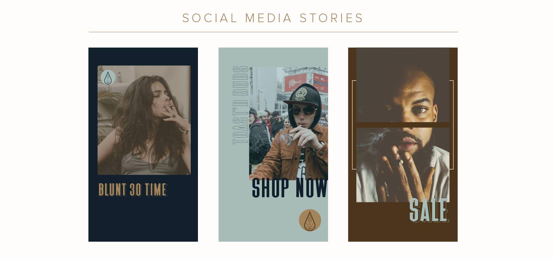 canva cannabis social media story kit