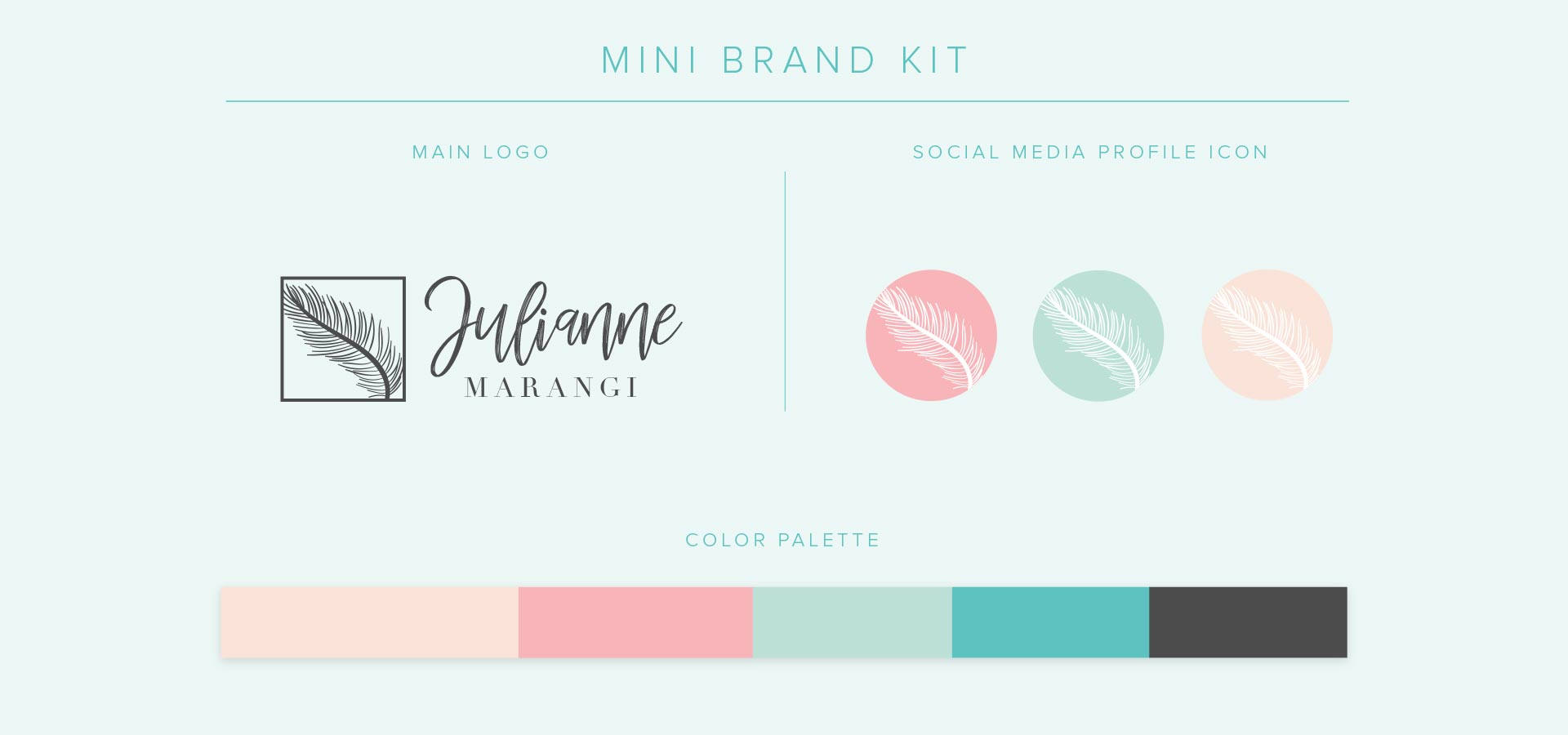 social media fashion brand kit